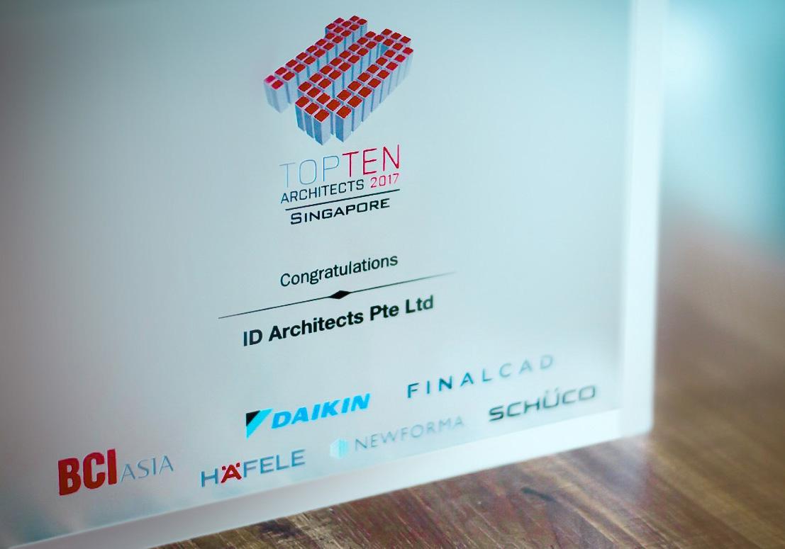 IDA Wins BCI Asia Top 10 Architects Award 2017